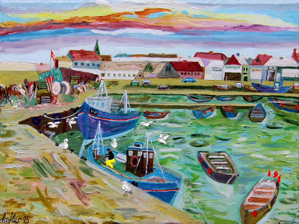 Painting: Gilleleje Harbour