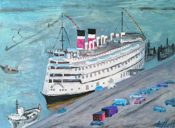 Painting: SS St. Lawrence in Copenhagen